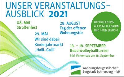 Veranstaltungsausblick 2021